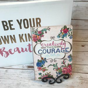 Molly & Rex CREATIVITY TAKE COURAGE Journal